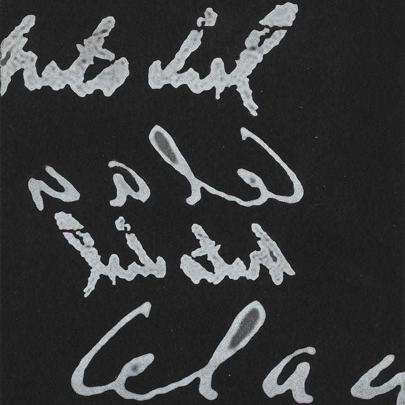 Paul Celan – Schon nicht mehr / Immer noch